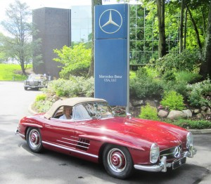 1957 mercedes 300sl convertible at the 2013 june jamboree for Mercedes benz montvale nj