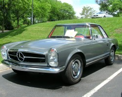 gray 1963 mercedes 230sl