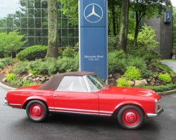 red 1963 mercedes 230sl