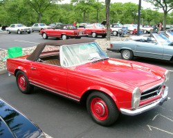 red 1963 Mercedes Pagoda SL