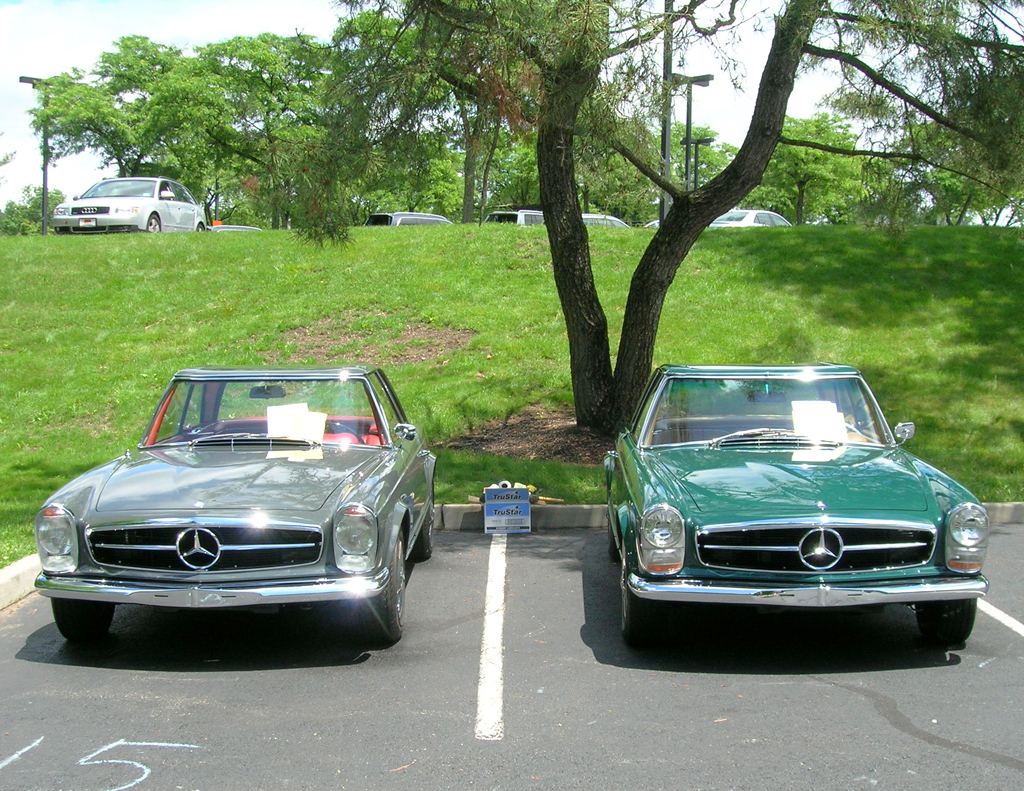 1963 and 1966 Mercedes pagoda SLs at the 2013 June Jamboree in Montvale, NJ