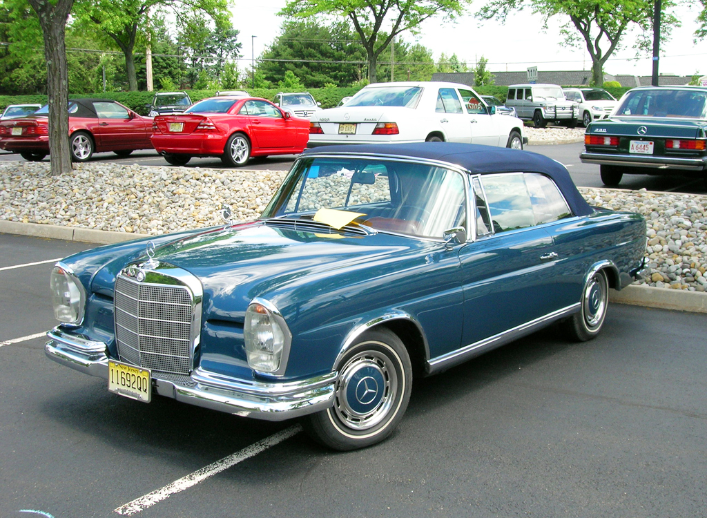 1964 Mercedes 230SE convertible at the 2013 June Jamboree in Montvale, NJ
