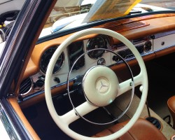 1964 Mercedes 230SL steering wheel