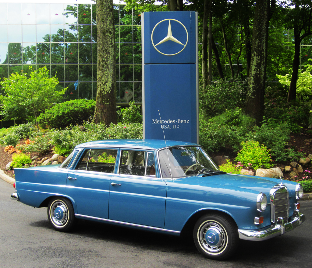 1966 Mercedes 230 at the 2013 June Jamboree in Montvale, NJ