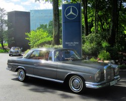 gray 1966 Mercedes 250SE coupe