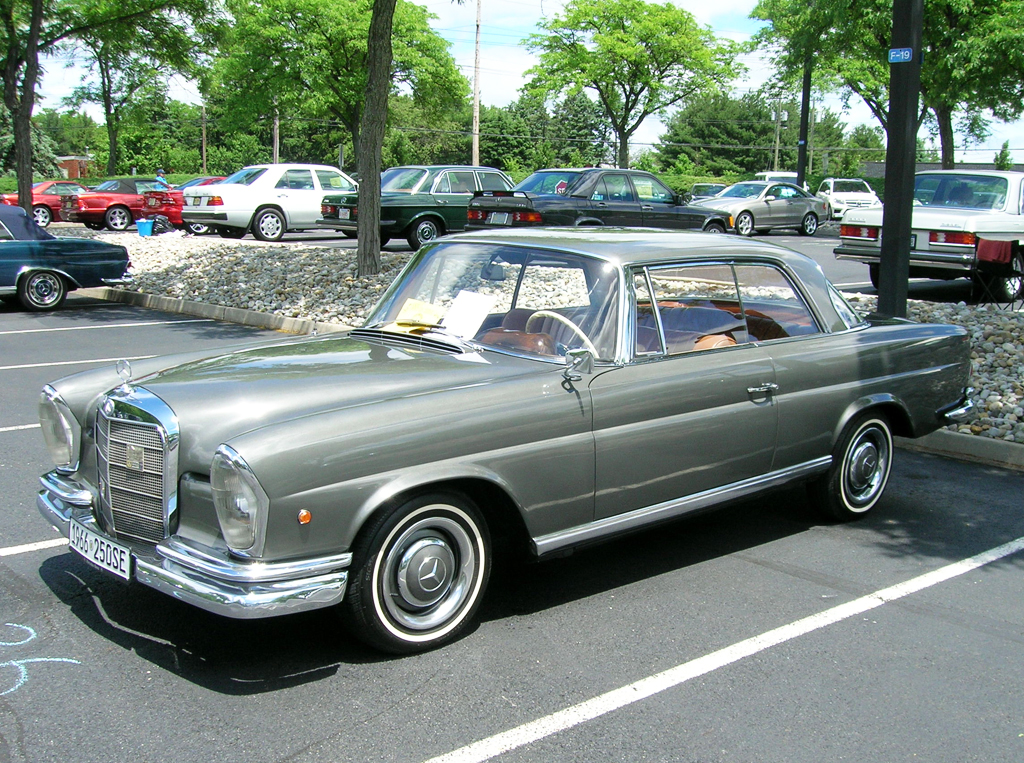 1966 Mercedes 250SE coupe at 2013 June Jamboree in Montvale, NJ