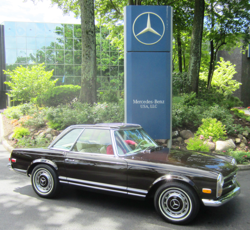 1969 Mercedes 280SL at the 2013 June Jamboree in Montvale, NJ