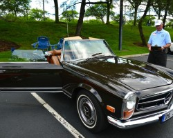 brown 1969 Mercedes 280SL