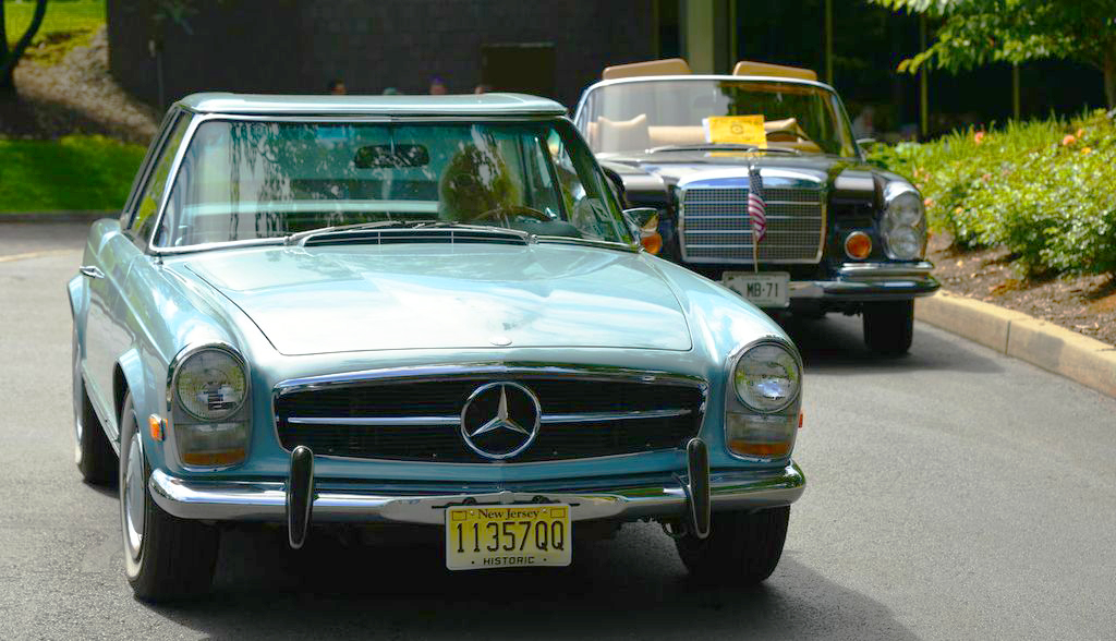 1970 Mercedes 280SL at the 2013 June Jamboree in Montvale, NJ