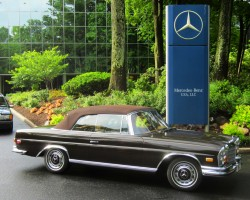 brown 1971 Mercedes 280SE convertible