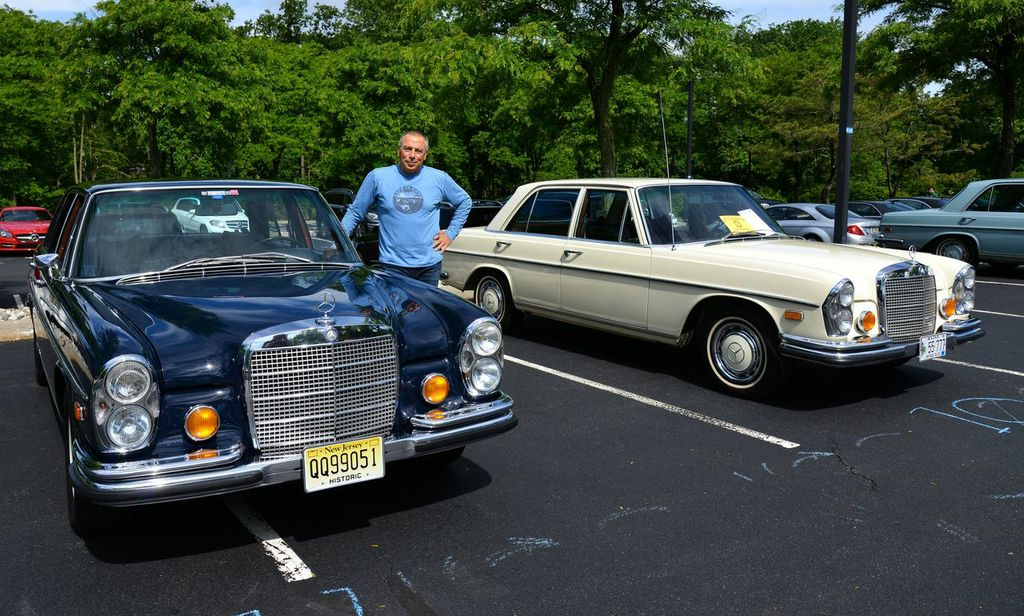1971 and 1972 Mercedes 280SE models at the 2013 June Jamboree in Montvale, NJ