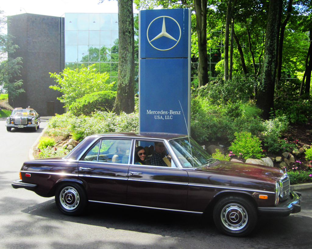 1974 Mercedes 240D at the 2013 June Jamboree in Montvale, NJ