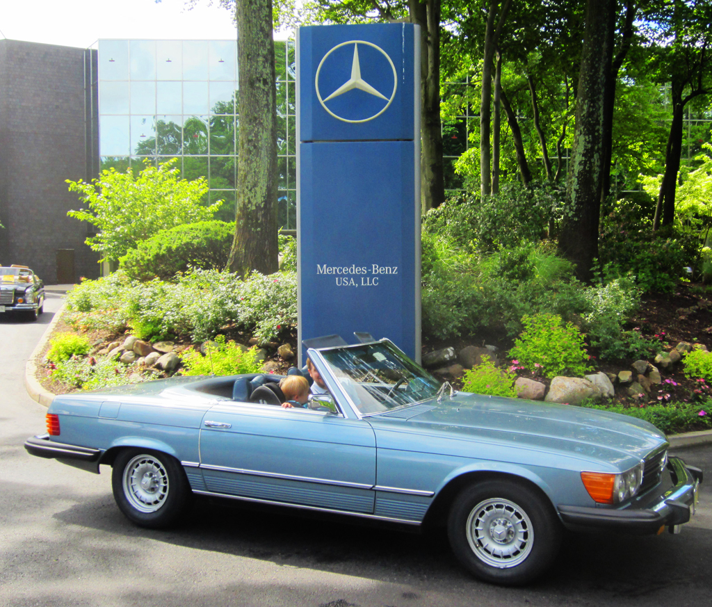 1974 Mercedes 450SL at the 2013 June Jamboree in Montvale, NJ