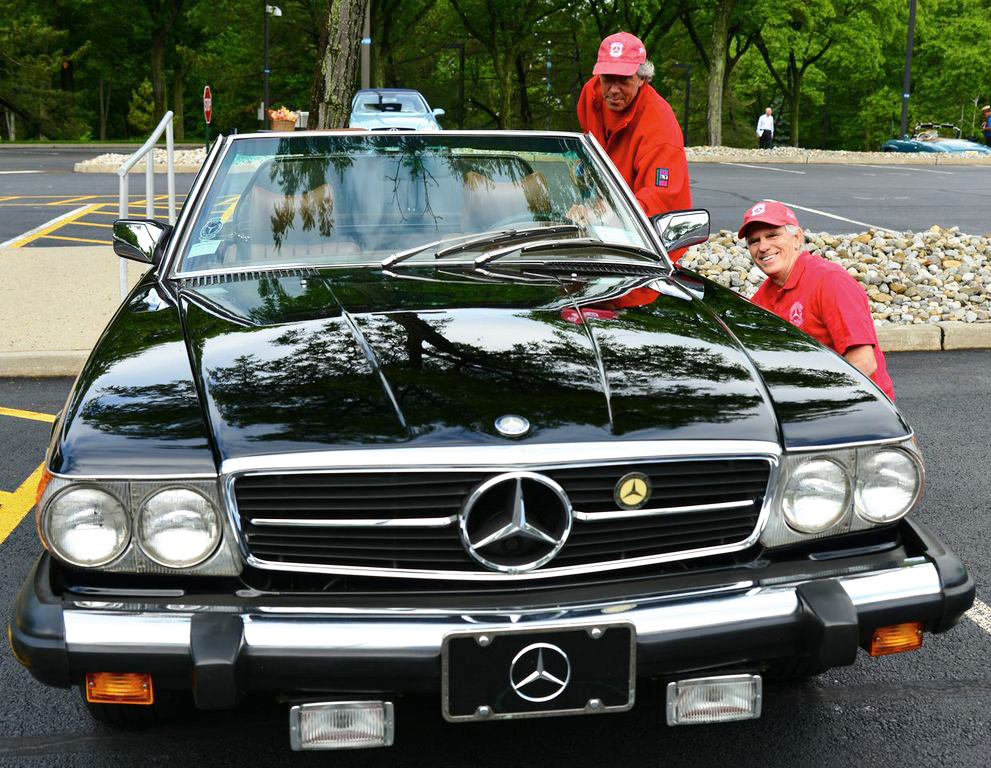 1976 Mercedes 450SL at the 2013 June Jamboree in Montvale, NJ