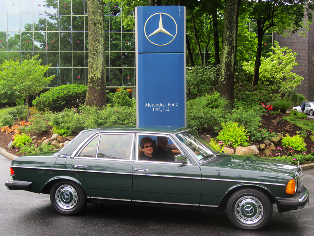 1978 Mercedes 230 at the 2013 June Jamboree in Montvale, NJ