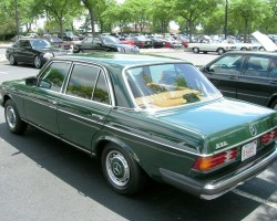 green 1978 mercedes 123 body