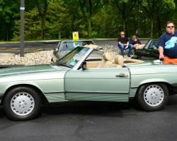 green 1986 mercedes 560sl
