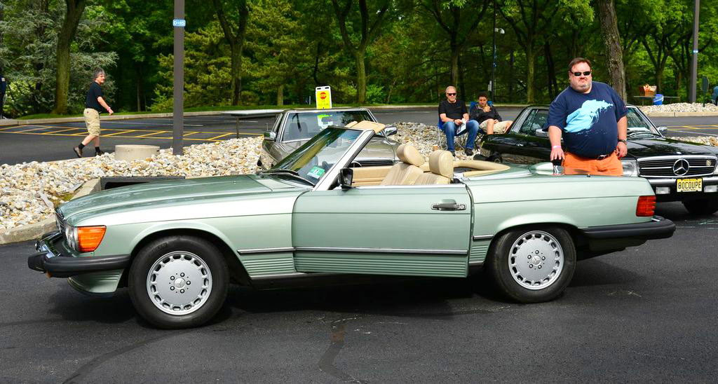 1986 Mercedes 560SL at the 2013 June Jamboree in Montvale, NJ