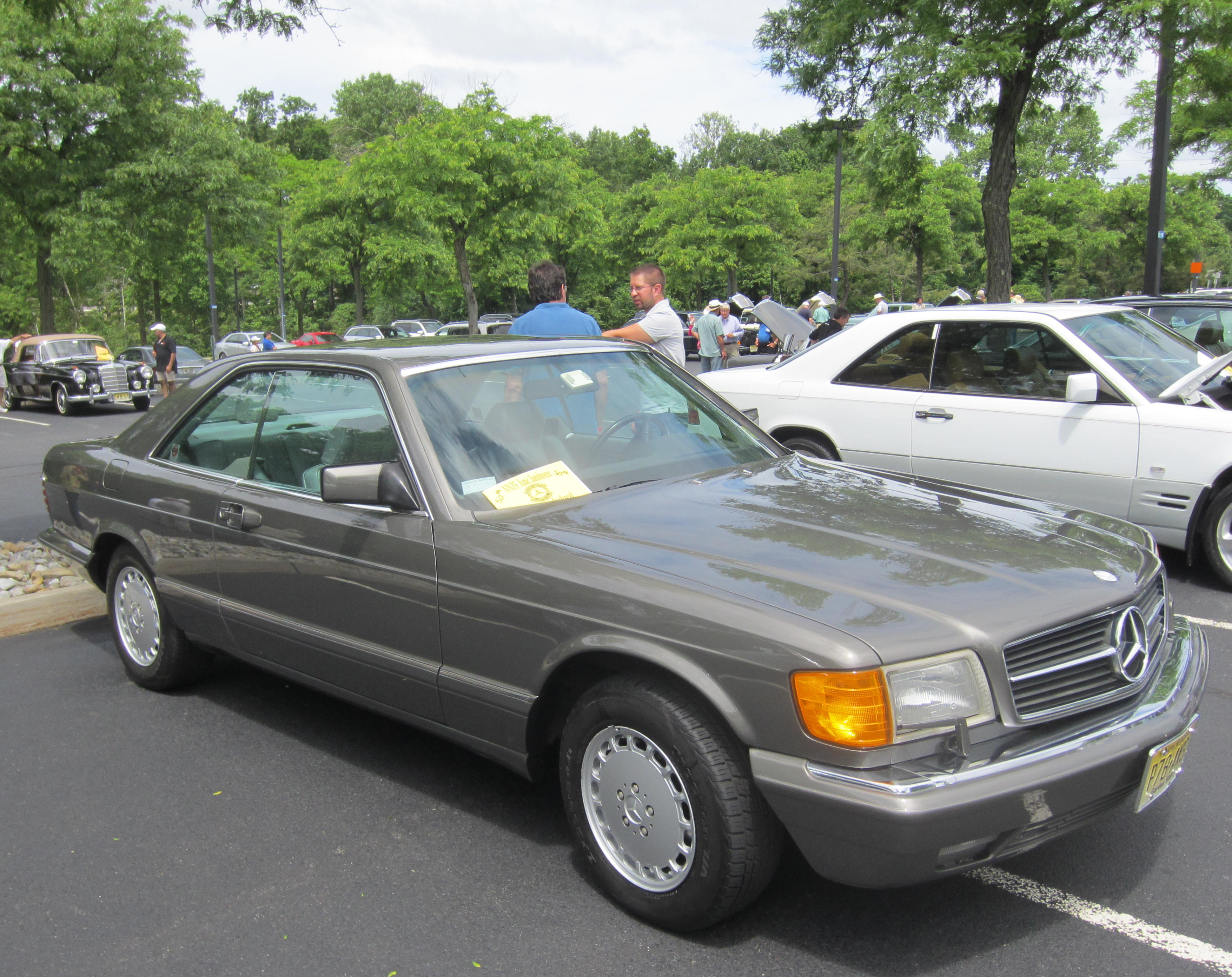 1987 Mercedes 560SEC  at the 2013 Mercedes June Jamboree car show