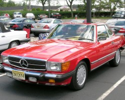 1987 Mercedes 560SL euro headlamps