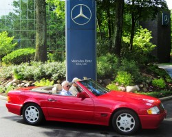 red 1995 Mercedes Sl320