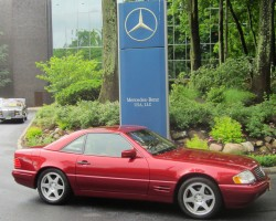 red 1997 Mercedes SL500