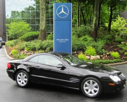 black 2003 Mercedes SL500