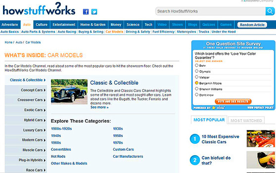 How Stuff Works web site