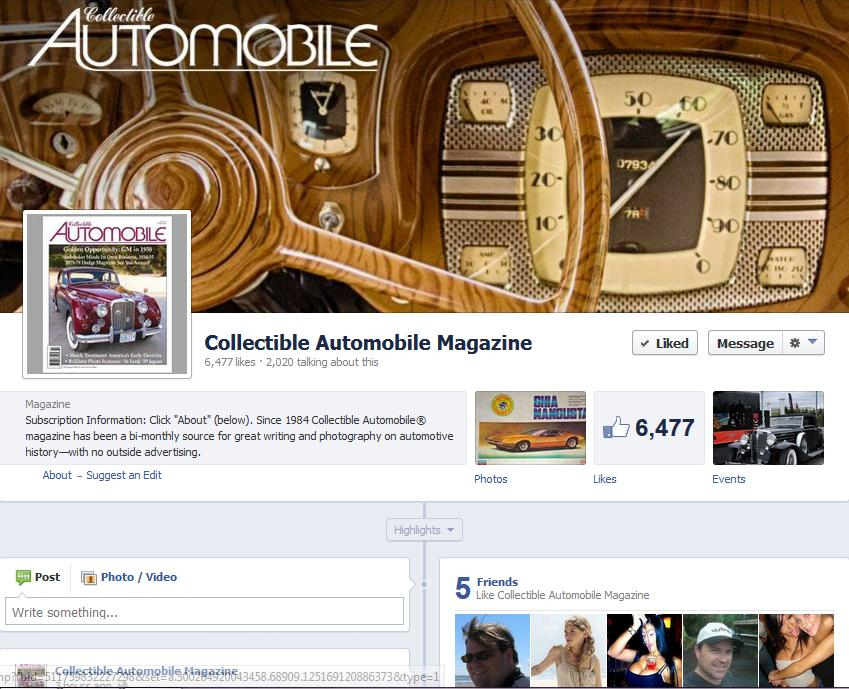Collectible Automobile Magazine facebook page
