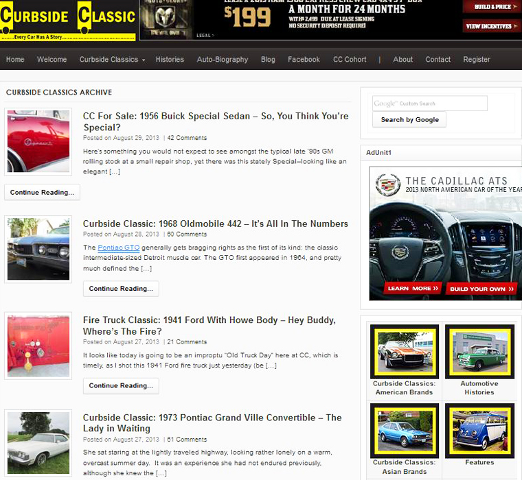 Curbside Classic website
