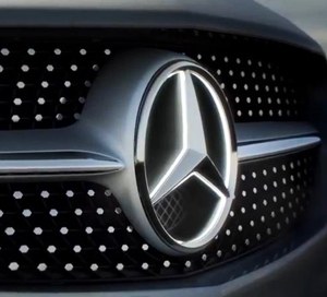 Mercedes illuminated star small