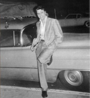 Elvis With His 1954 Cadillac Fleetwood 75 Limo Elvis In