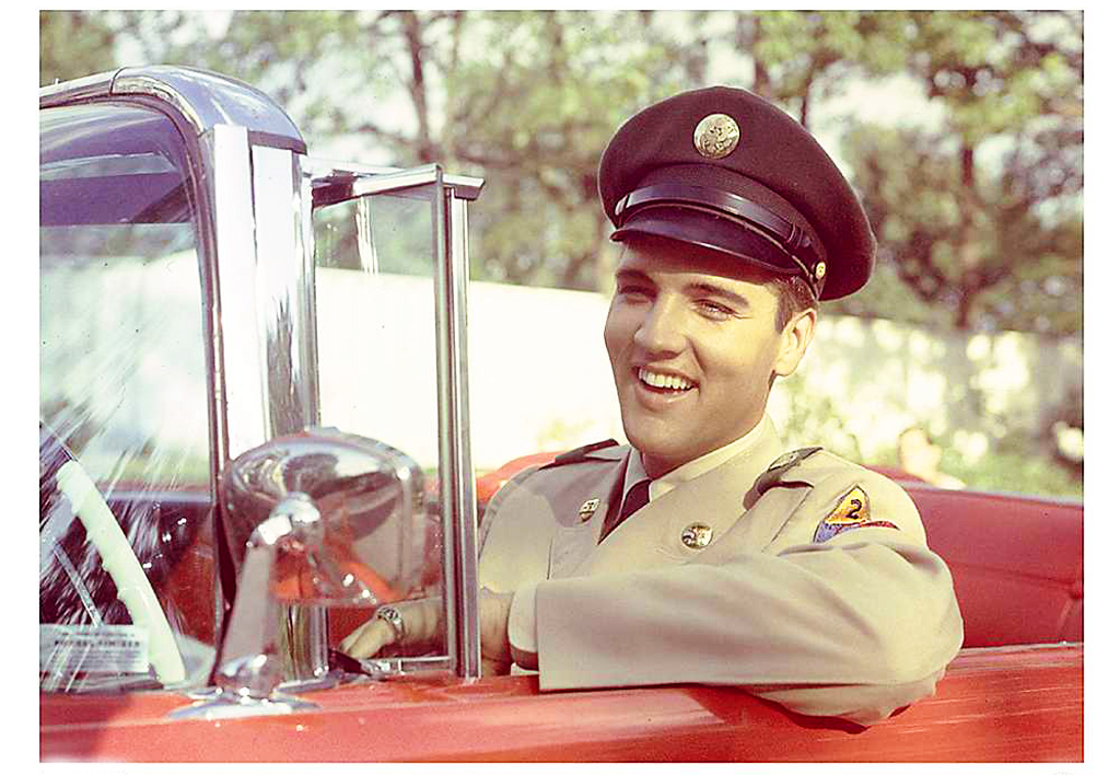 Elvis Presley With His 1958 Lincoln Continental Mark III