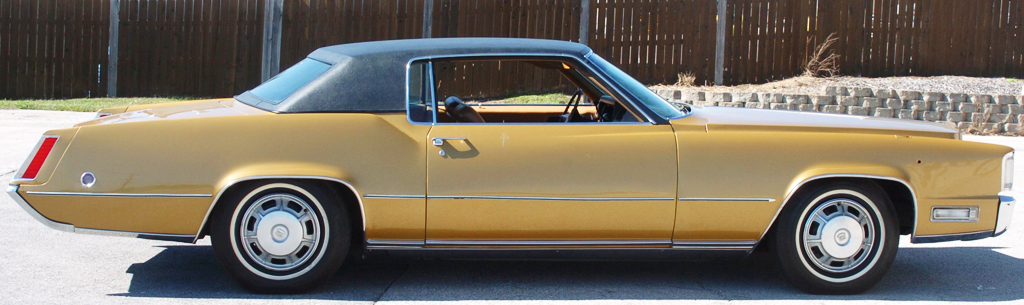 Elvis was not able to resist buying this '68 Cadillac Eldorado he saw in a Memphis dealership's window shortly after Christmas 1967.