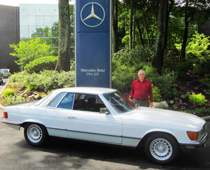 15-inch versions of the Mercedes Bundt wheels were first made in the mid-1970s for high performance models such as the 450SEL 6.9 and the Euro market 450SLC 5.0 (1980 SLC with 15-inch bundt wheels shown).