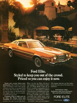 1975 Ford Elite ad