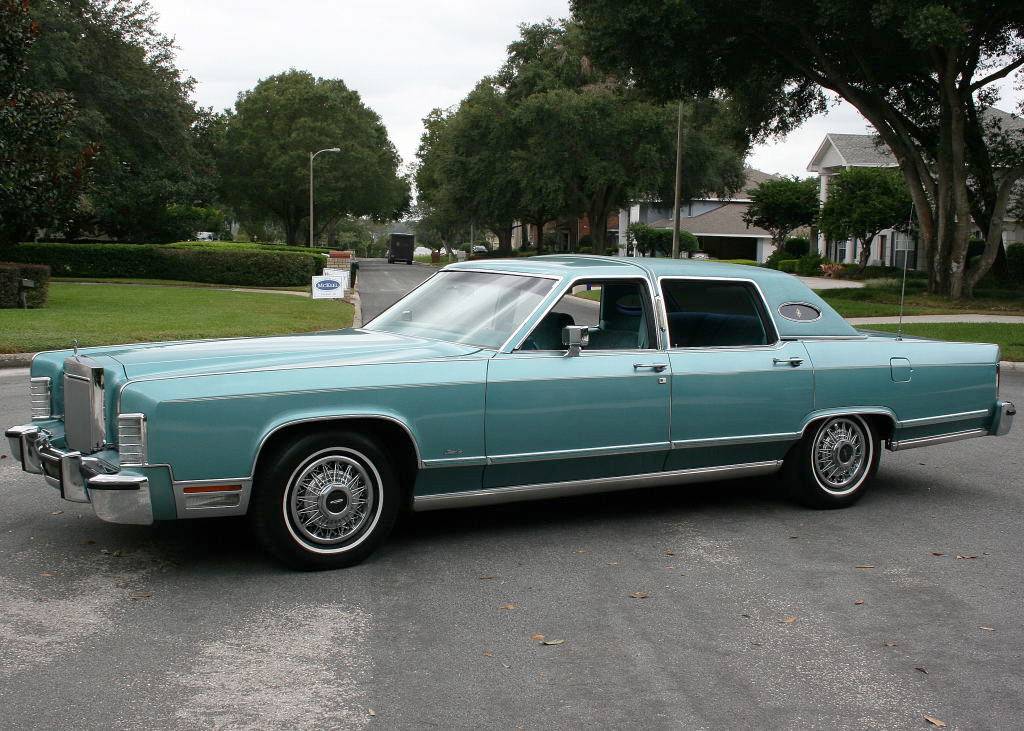 1978 lincoln continental with wire wheel covers classic cars today online. Black Bedroom Furniture Sets. Home Design Ideas