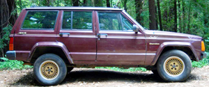 "It's possible that Laura's ""Jeep wagon"" was a 1980s Jeep Cherokee, which was available in 2- and 4-door form (1988 model shown here)."