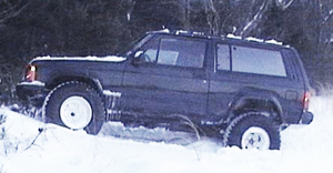 A 1988 Jeep Cherokee 2-door