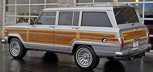 "Koontz gives no clarification of what Jeep model is involved in his novel Lightning, except that it is a ""Jeep wagon"".  His use of tailpipes (plural) hints at a V-8 engine, making us believe he was thinking of a Grand Wagoneer (other Jeep models only offered 4- or 6-cylinder engines).  However, neither the Grand Wagoneer nor any models from Jeep were available with a factory dual exhaust option during the 1980s, so that imagined detail proves inconclusive."