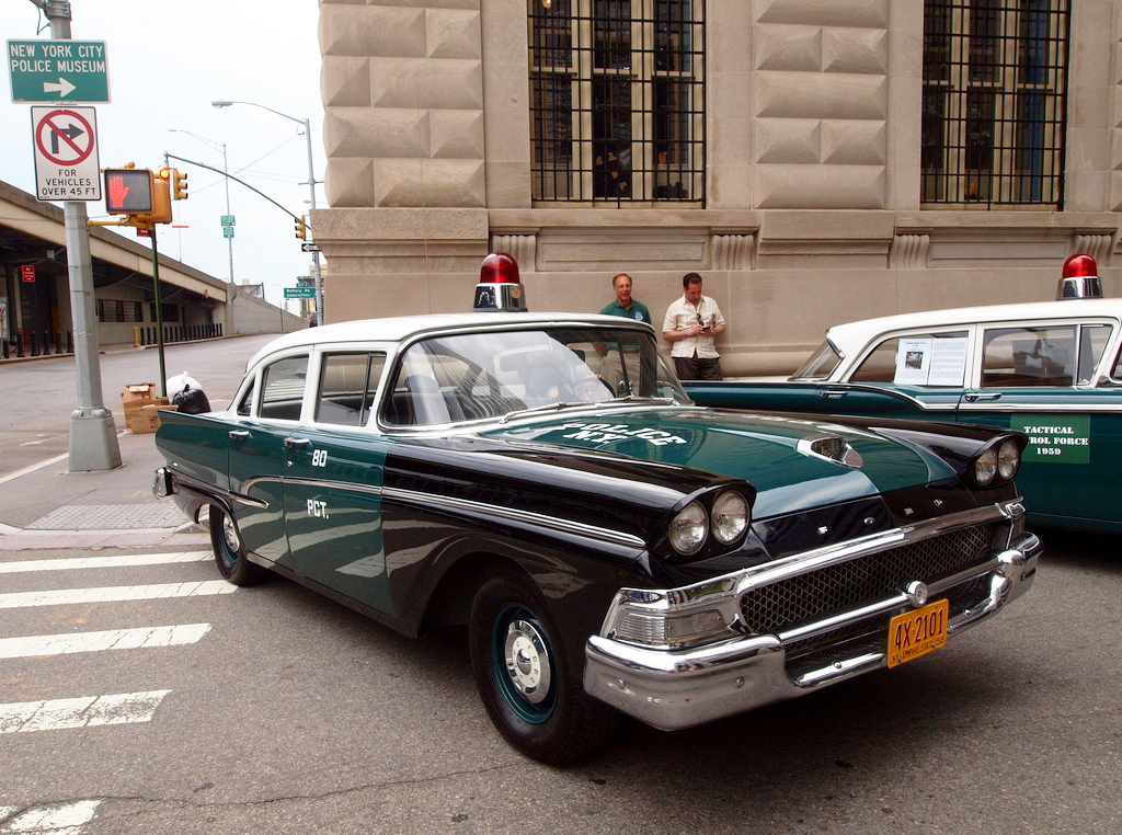 1958, ford, new york city, police car