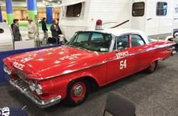 1961 plymouth, car 54, police car