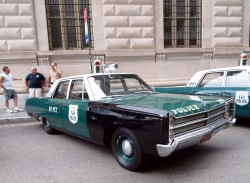 1967, plmouth, fury, new york city, police car