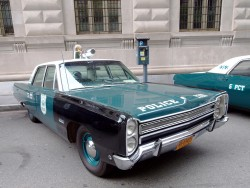 1968, plymouth, fury, new york city, police car