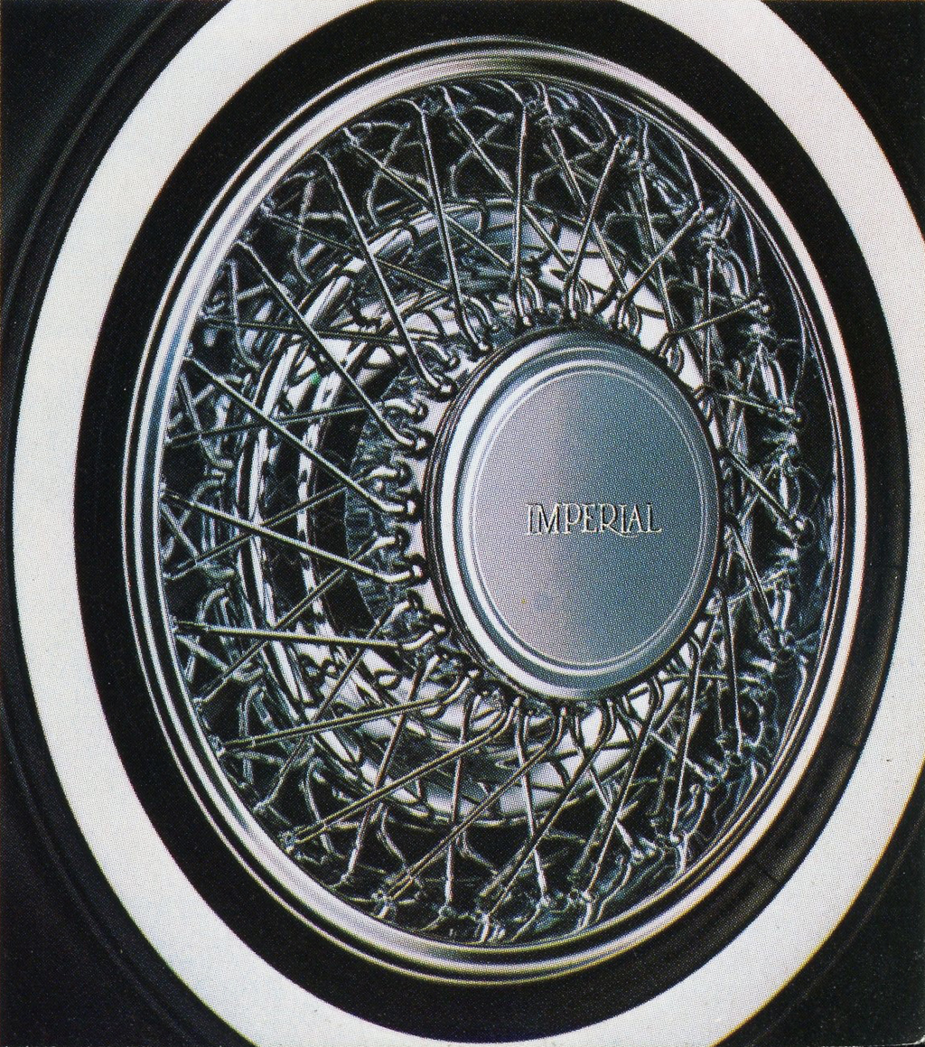 chrysler imperial wire wheel cover