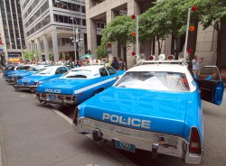 new york city, police cars, vintage, museum