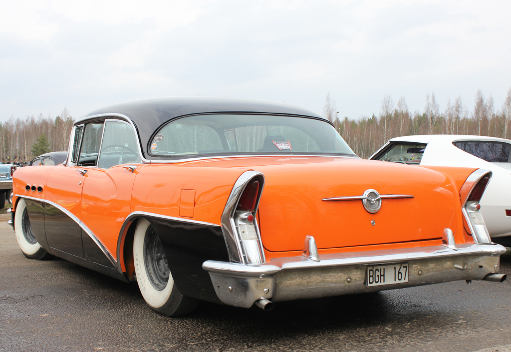 1956 buick special hardtop sedan left rear view classic for 1956 buick special 4 door hardtop