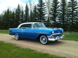 1956 chevrolet, 4 door coupe, 4-door coupe