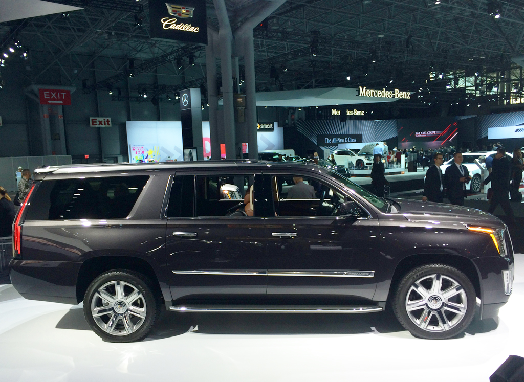 2015 Cadillac Escalade at the 2014 New York Auto Show