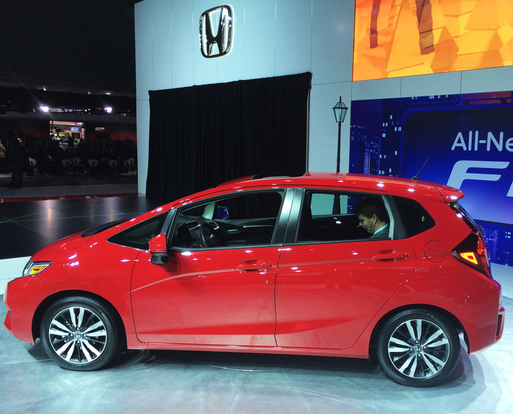 2015, honda, fit, new york auto show